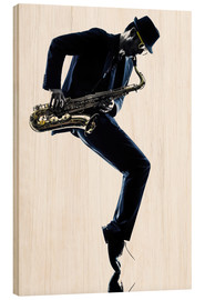Wood print  Jazz saxophone