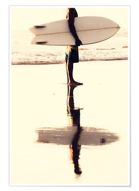 Premium poster  Surfer reflection