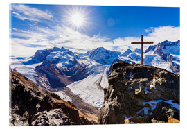 Acrylic print  Monte Rosa massif in Valais - Dieterich Fotografie