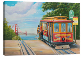 Canvas print  To Golden Gate Bridge - Georg Huber