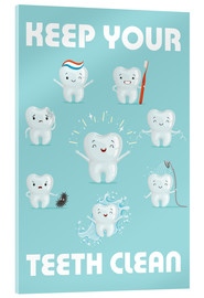 Acrylic print  Keep your teeth clean - Kidz Collection