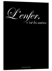 Acrylic print  Hell, these are the others - French Black - Typobox