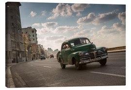 Canvas print  Cuban american car driving through Havana, Cuba. - Alex Saberi