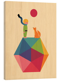 Wood print  Once upon a time - Andy Westface