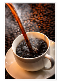 Premium poster Freshly cooked coffee