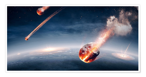 Premium poster Meteorites on their way to earth
