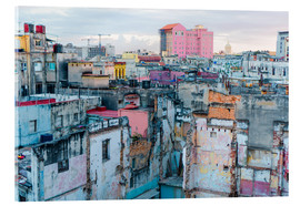 Acrylic print  Authentic view of a street of Old Havana