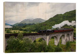 Wood print  Hogwarts Express