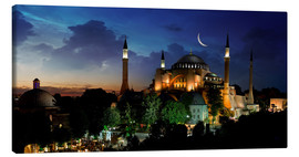 Canvas  View of Hagia Sophia after sunset