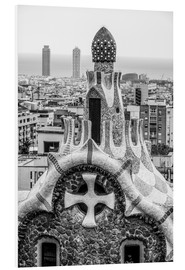 Foam board print  Impressive architecture and mosaic art at Park Guell