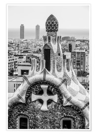 Premium poster  Impressive architecture and mosaic art at Park Guell