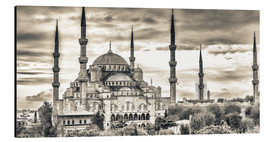 Aluminium print  Blue mosque in sepia