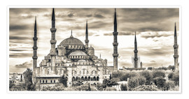 Premium poster  Blue mosque in sepia