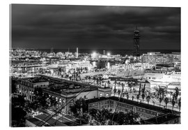 Acrylic glass  Beautiful view over the Port of Barcelona