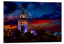 Acrylic glass  Illuminated Galata Tower