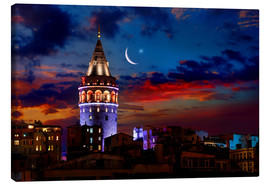 Canvas  Illuminated Galata Tower