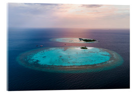 Acrylic print  Islands at sunset in the Maldives - Matteo Colombo