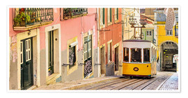 Premium poster  Yellow tram in Lisbon - Jörg Gamroth