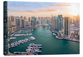 Canvas print  Dubai Marina at Sunset - Dieter Meyrl
