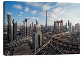 Canvas print  Dubai City Long Exporsure - Dieter Meyrl