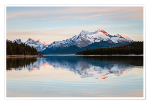Premium poster Sunset over the Rockies, Canada