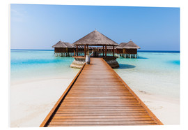 Foam board print  Jetty and overwater bungalows, Maldives - Matteo Colombo