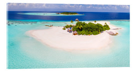 Acrylic print  Aerial view of island in the Maldives - Matteo Colombo