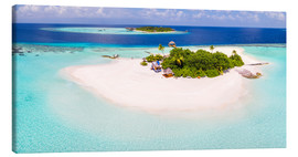 Canvas  Aerial view of island in the Maldives - Matteo Colombo