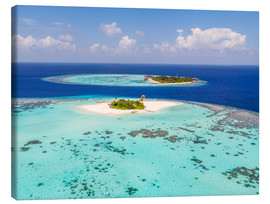 Canvas print  Aerial view of islands in the Maldives - Matteo Colombo