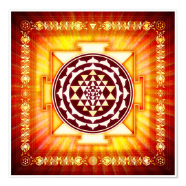 Premium poster Sri Yantra Energy Light