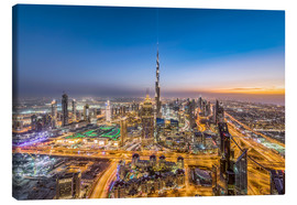 Canvas print  Dubai City Sunset - Dieter Meyrl