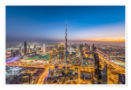 Premium poster Dubai City Sunset