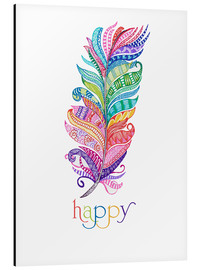 Aluminium print  Happy - MiaMia