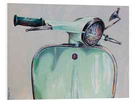 Foam board print  Vespa Mint - Renate Berghaus