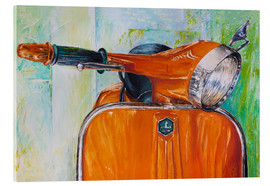 Acrylic print  Vespa orange - Renate Berghaus
