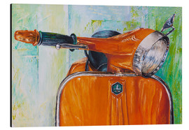 Aluminium print  Vespa orange - Renate Berghaus