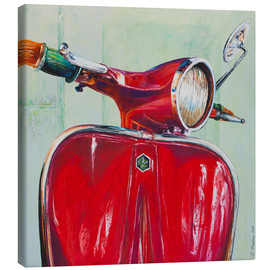 Canvas print  Vespa red - Renate Berghaus