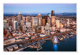 Premium poster Aerial view of Seattle skyline, USA
