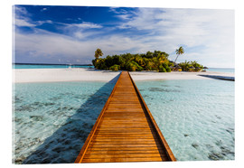 Acrylic print  Jetty to tropical island, Maldives - Matteo Colombo