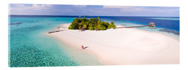 Acrylic print  Dream island in the Maldives - Matteo Colombo