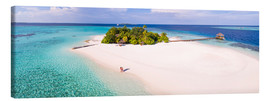 Canvas print  Dream island in the Maldives - Matteo Colombo