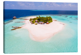 Canvas  Drone view of paradise island, Maldives - Matteo Colombo