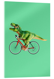 Acrylic print  T-Rex riding a bike - Jonas Loose