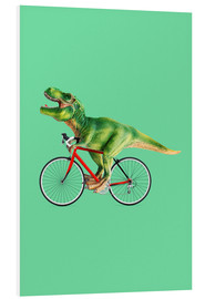 Foam board print  T-Rex riding a bike - Jonas Loose