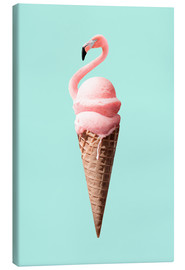 Canvas print  Flamingo Cone - Jonas Loose
