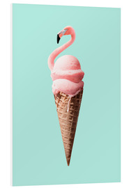 Foam board print  Flamingo Cone - Jonas Loose
