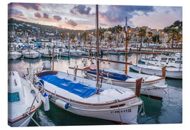 Canvas print  Evening mood in the port of Port Soller (Mallorca) - Christian Müringer