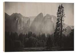 Wood print  In the Yosemite valley - Pascal Deckarm