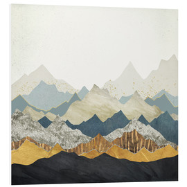 Foam board print  Distant Peaks - SpaceFrog Designs