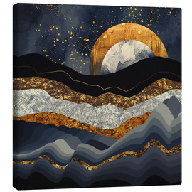 Canvas print  Metallic Mountains - SpaceFrog Designs